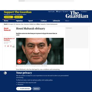 Hosni Mubarak obituary - World news - The Guardian