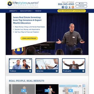 Lifestyles Unlimited – The education and mentoring group for real estate investors