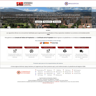 ArchiveBay.com - snrbotondepago.gov.co - Certificado de tradición y libertad, consultas de índices de propietarios y certificados de no propiedad
