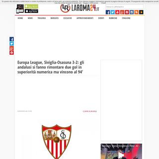Europa League, Siviglia-Osasuna 3-2- gli andalusi si fanno rimontare due gol in superiorità numerica ma vincono al 94' » LaR