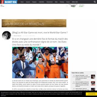 [Blog] Le All-Star Game est mort, vive le World-Star Game- - Basket USA