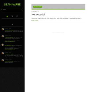 SeanPAune.com » The personal site of Sean P. Aune