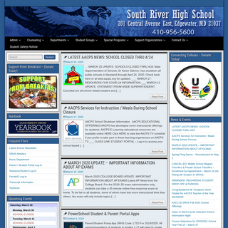 South River High School – Home of the Seahawks