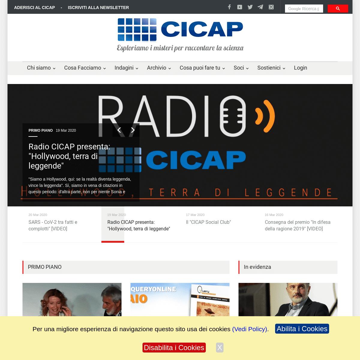 CICAP - HomePage