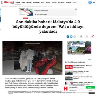 Son dakika haberi- Malatya'da 4.9 büyüklüğünde deprem! Vali o iddiayı yalanladı - Son Dakika Haberler