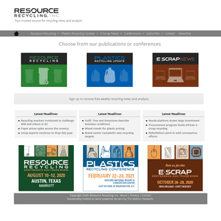 Resource Recycling, Inc. – Recycling Industry Publications & Conferences