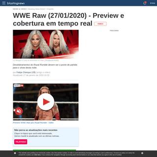 WWE Raw (27-01-2020) - Preview e cobertura em tempo real
