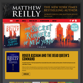 Matthew Reilly – the New York Times bestselling author