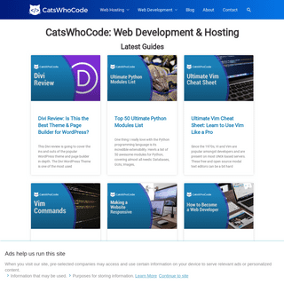 CatsWhoCode- Web Development & Hosting Blog