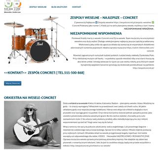Zespoły weselne ❤️ CONCRET ✅ Zespół weselny-Kielce,Kraków,Katowice