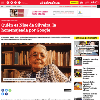 ArchiveBay.com - www.cronica.com.ar/tecnologia/Quien-es-Nise-da-Silveira-la-homenajeada-por-Google-20200215-0029.html - Quién es Nise da Silveira, la homenajeada por Google - Crónica - Firme junto al pueblo