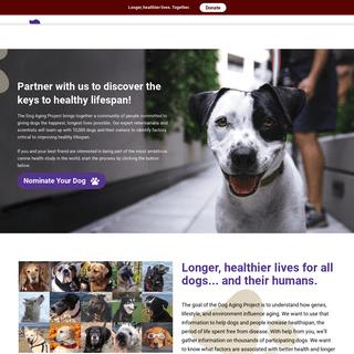 ArchiveBay.com - dogagingproject.com - Dog Aging Project – Longer, healthier lives. Together.