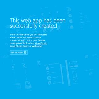 Microsoft Azure Web App - Welcome