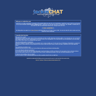 JackinChat- Free Masturbation Community for Adults! Boards, Chat, Profiles, Pics and More!