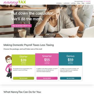 Domestic Payroll Solutions - Caregiver Payroll Services - NannyTax