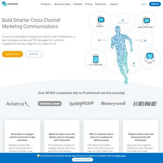 Pushwoosh – №1 push notification and cross-channel marketing service