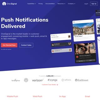#1 Push Service - Send Mobile & Web Push Notifications - OneSignal