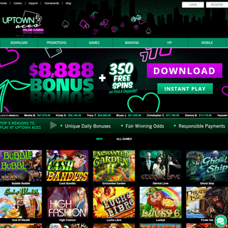 Home - Latest Online Casino Games and Slots at Uptown Aces