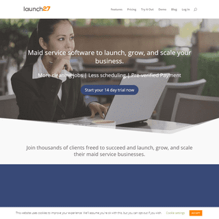 Maid Service Software - Try The #1 Cleaning Software - Launch27
