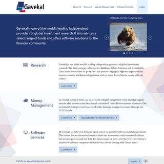 Gavekal - Gavekal - Group Site