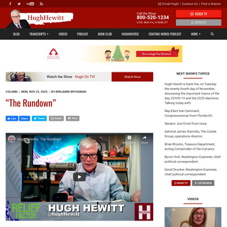 The Hugh Hewitt Show - Opinion and Information with a Unique Twist