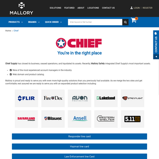 Chief - Mallory Safety and Supply
