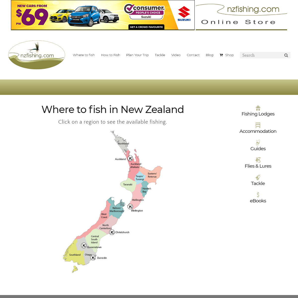 NZ Fishing - Independent guide to fishing in New Zealand