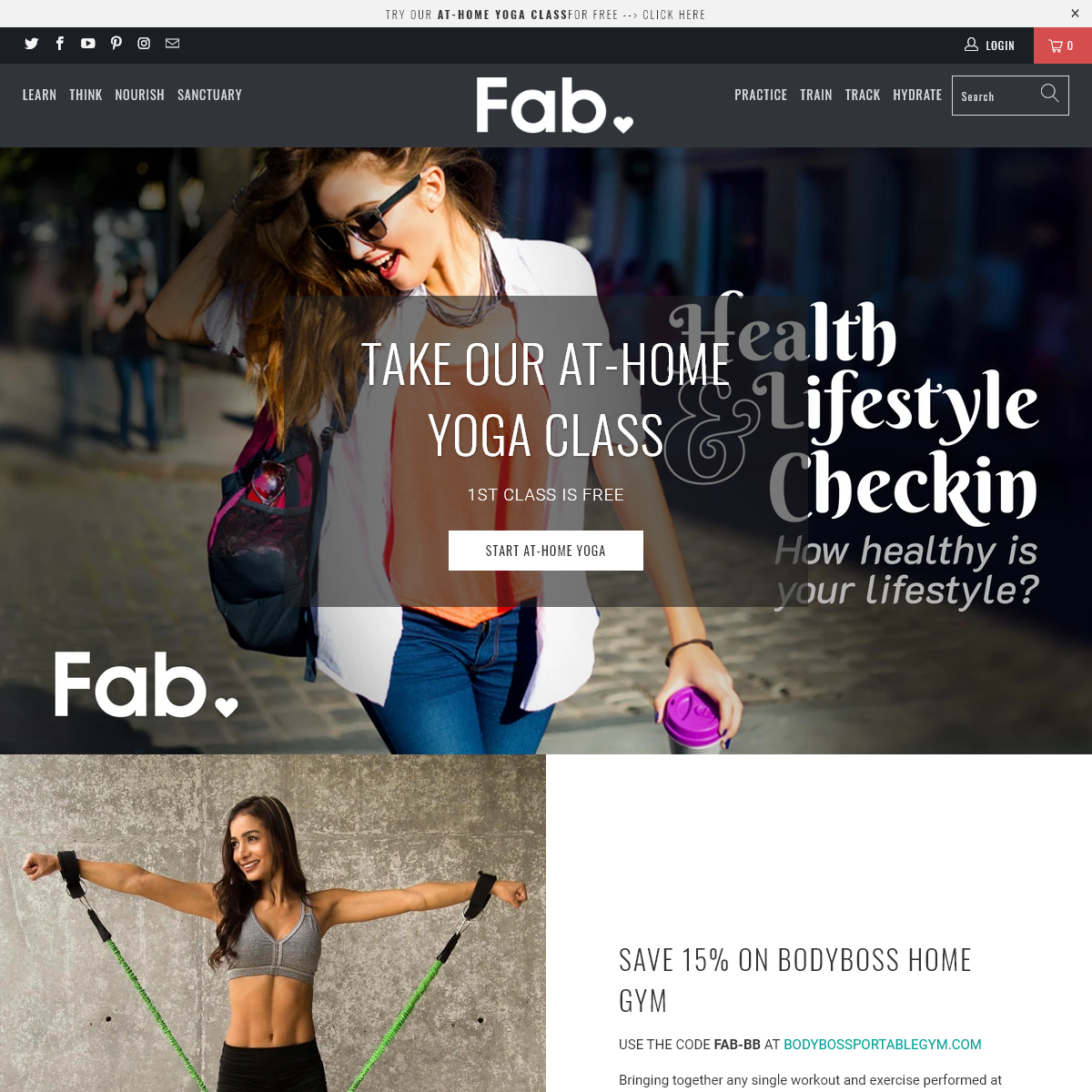 Fab - live your fab life. Fitness, health & wellness products for you.