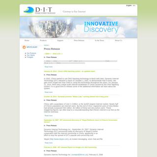 Press Release - Dynamic Internet Technology, Inc