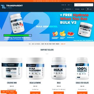 Transparent Labs- Performance Nutrition
