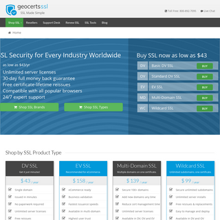 SSL Certificates from GeoTrust, Comodo, DigiCert at Wholesale Prices