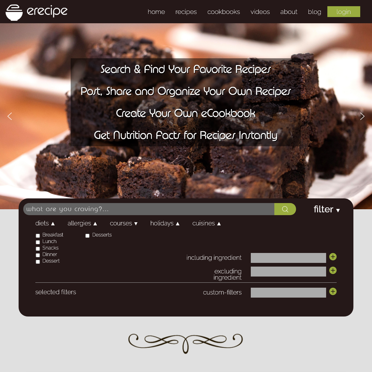 eRecipe – Recipes From Home Chefs With Recipe Ratings, Reviews And Tips