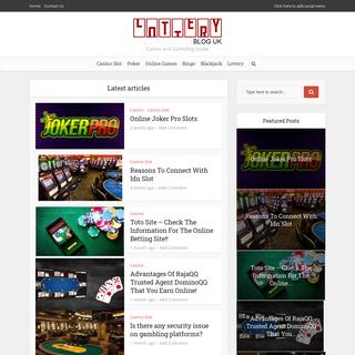 Lottery Blog UK - Casino and Gambling Guide
