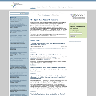 The Open Data Research network - Open Data Research Network