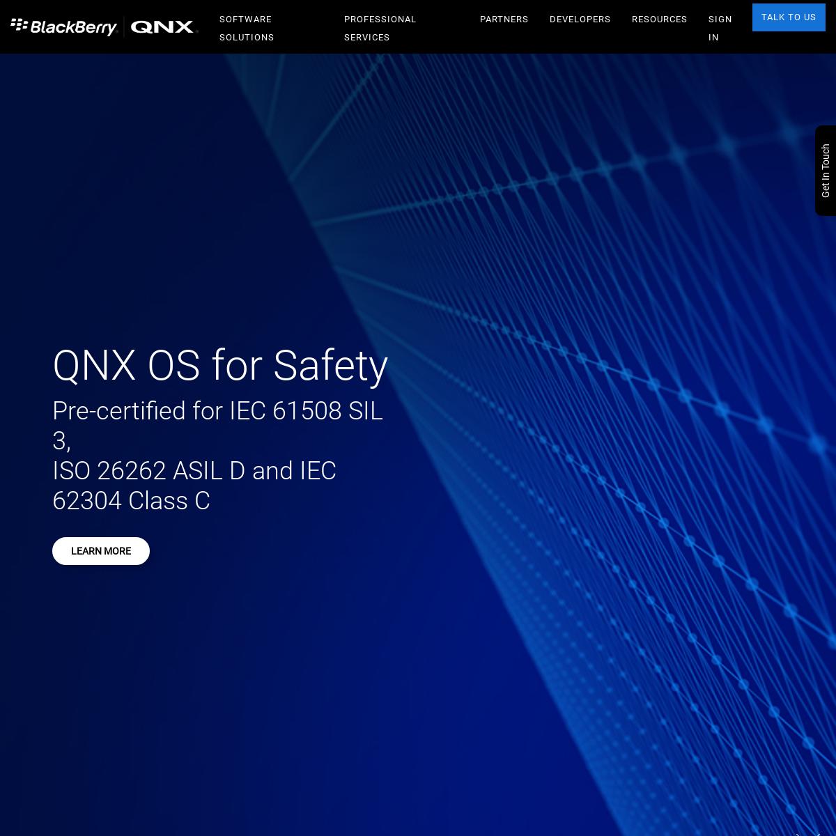 Embedded Systems Software Platform - BlackBerry QNX