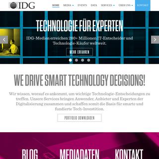 Home - IDG - Media, Data und Services für die Technologie-Branche
