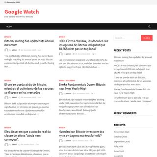 Google Watch – Eine weitere WordPress-Website