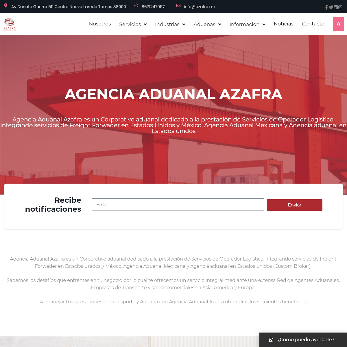 ⭐⭐⭐⭐⭐ Agencia Aduanal Azafra International