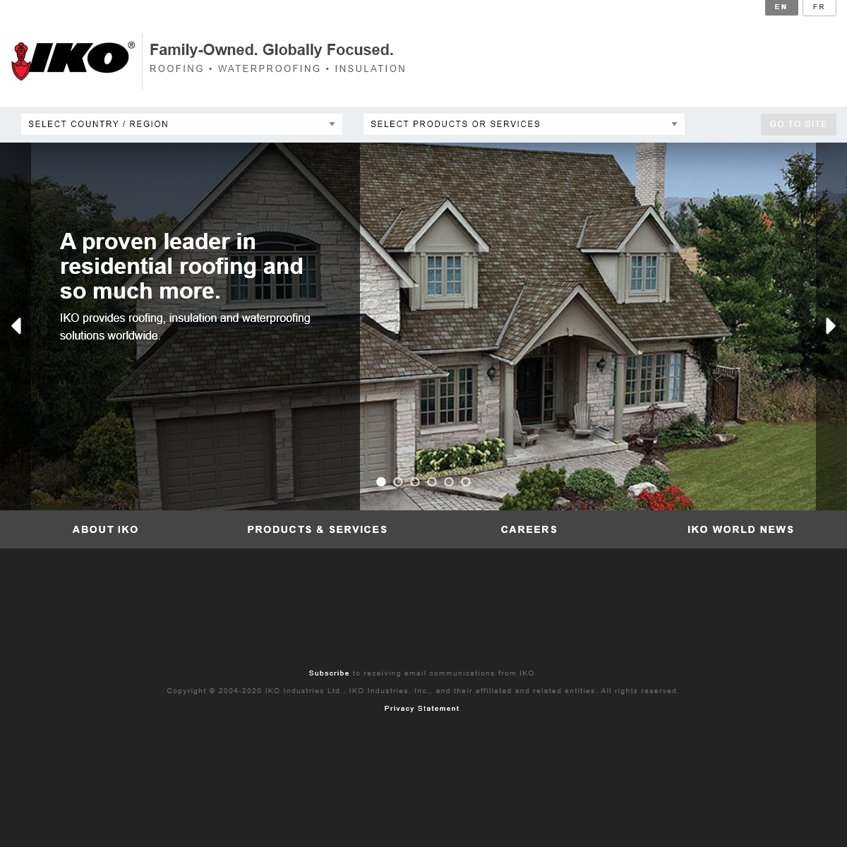 Shingle Manufacturer - Roofing, Waterproofing & Insulation Products - IKO