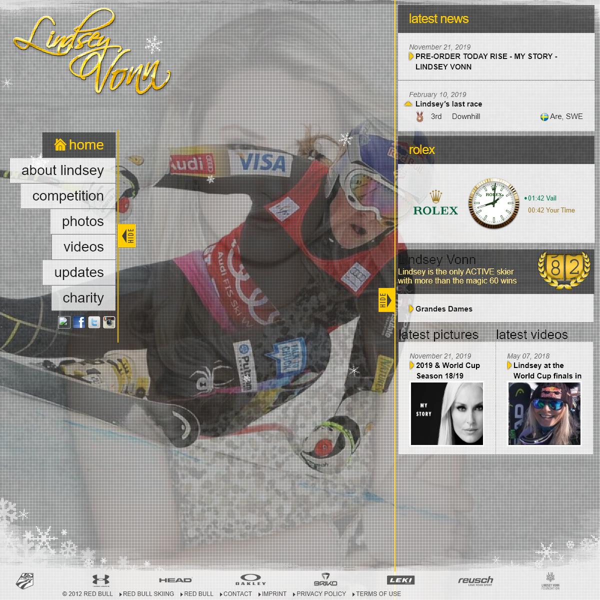 Lindsey Vonn Official Website