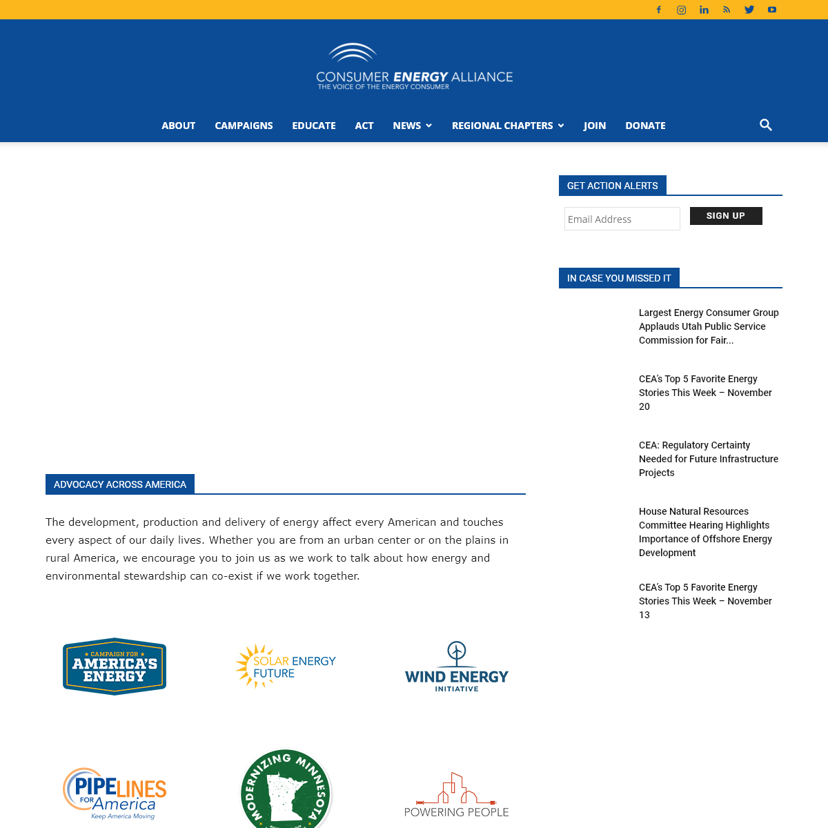 Home Page - Consumer Energy Alliance