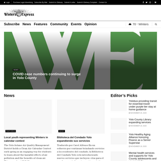 Winters Express – Local news, information and weather for Winters, California