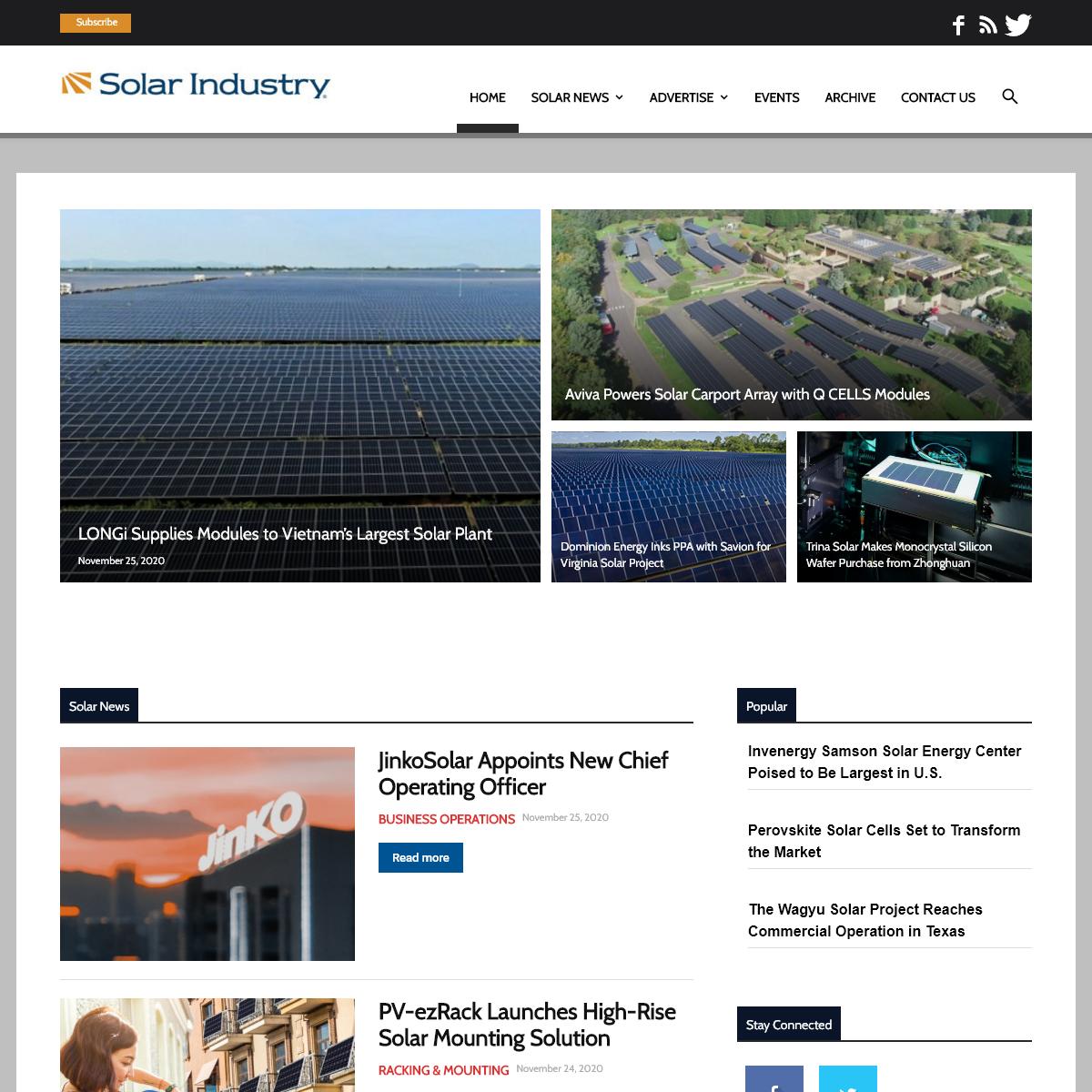 Solar Power News - Solar Industry