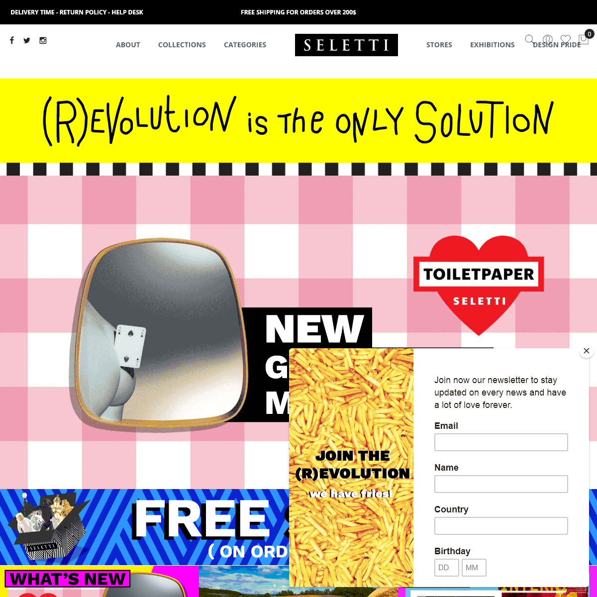 Homepage - (R)Evolution is the only Solution - Seletti