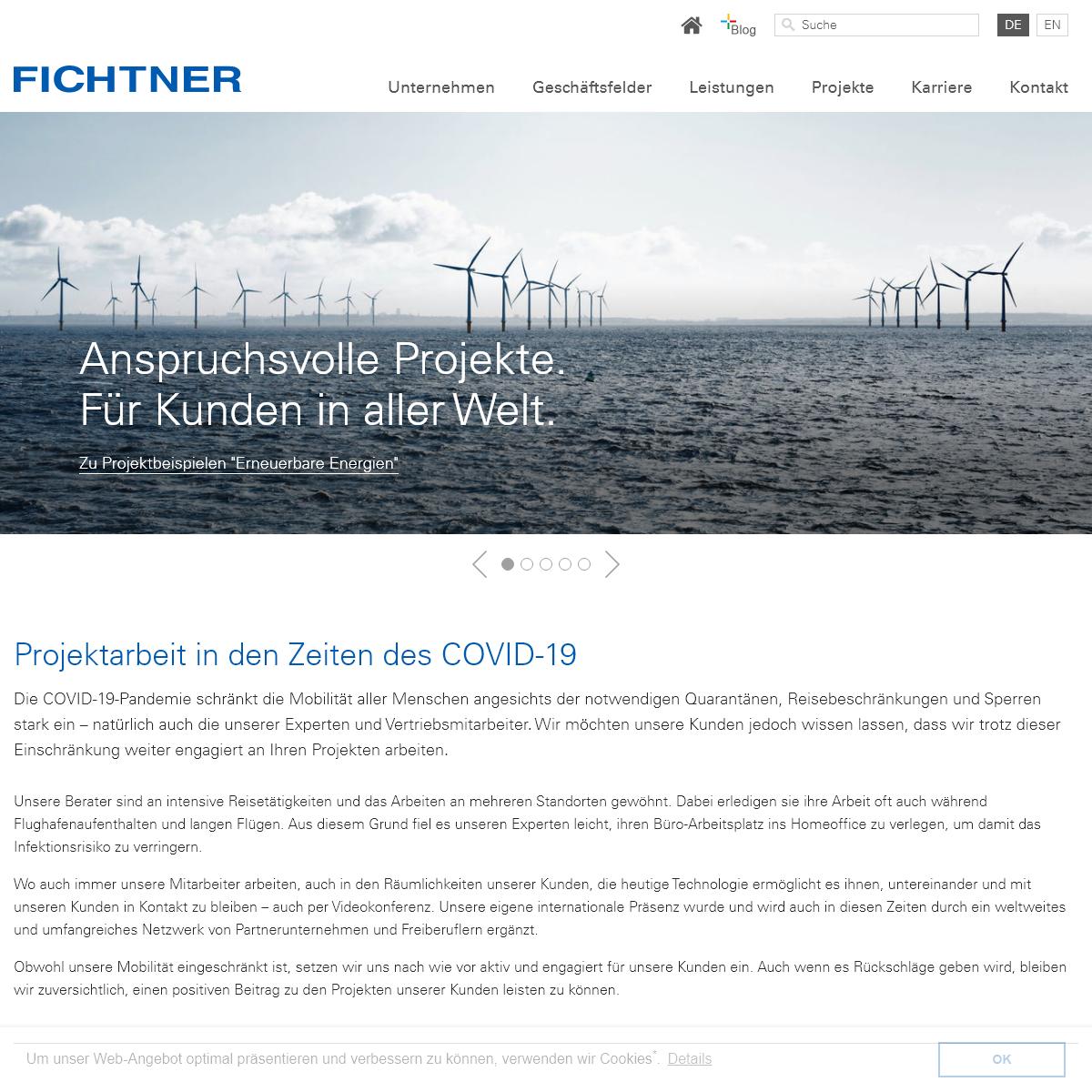 Fichtner-Gruppe- Fichtner - Engineering und Consulting