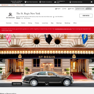 5-Star Hotel in New York Manhattan - The St. Regis New York