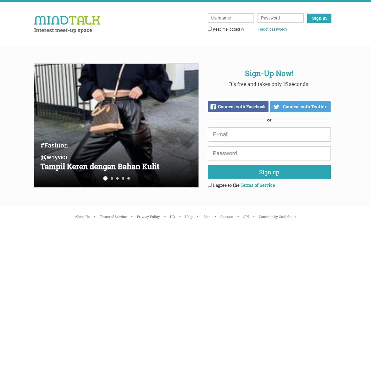 Mindtalk - Interest Meetup Space