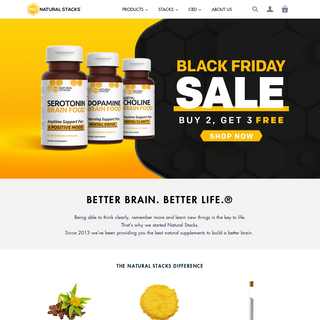 Natural Stacks - Premium Supplements for Brain Health