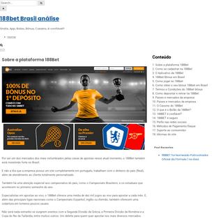 188bet Brasil análise- Gratis, App, Bolao, Bônus, Cassino, é confiável-