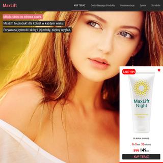 MaxLift - krem odmładzający - UWAGA Promocja (-50-)